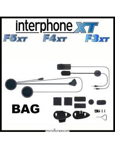 Audio-Kit mit zwei Mikrofonen, Lautsprechern und Interphone-Montagesystemen der XT-Serie, f3xt, f4xt, f5xt,
