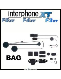 Kit audio completo di due microfoni, altoparlanti e sistemi di montaggio Interphone serie XT , f3xt, f4xt, f5xt,