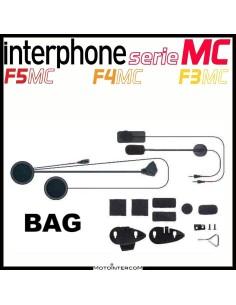 Kit audio completo di due microfoni, altoparlanti e sistemi di montaggio Interphone serie MC, f5mc, f4mc, f3mc
