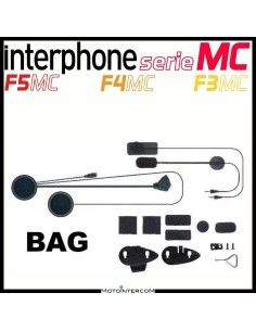 Kit audio completo di due microfoni, altoparlanti e sistemi di montaggio Interphone serie MC, f5mc, f4mc, f3mc