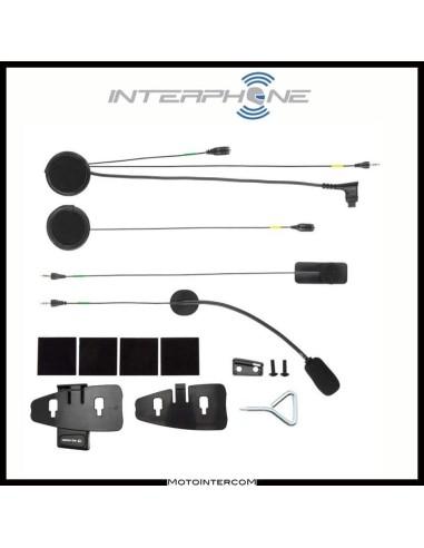 F2-F3-F4-F4s Kit Audio Interphone Cellularline auricolare e doppio microfono