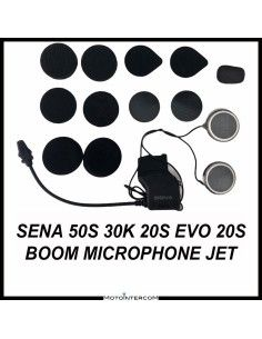 Sena 50S 30K 20S Audio Kit, built-in boom microphone and metal speakers