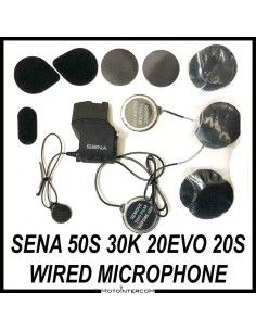 Audio Kit Sena 50S 30K 20S wired microphone and metal speakers