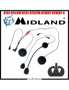 Kit audio completo microfono altoparlanti piastra adesiva interfono midland BTX BTNEXT