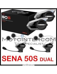 Sena 50S Dual interfono moto pacco doppio Mesh2.0