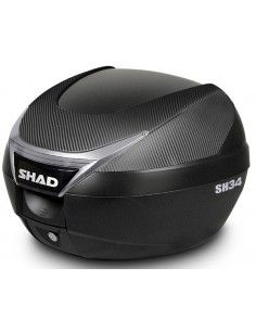 Shad 34 Liters top case with Carbon effect cover best price