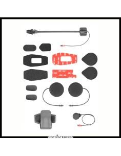 Kit de audio ucom16 completo con 2 micrófonos de clip y juego de pegatinas con auriculares HD