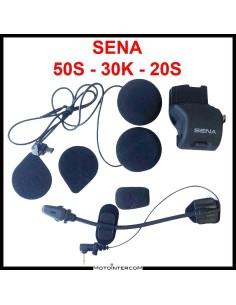 Kit Audio compatibile Sena 50S 30K 20S microfono a braccetto e altoparlanti Slim HD 45x8mm