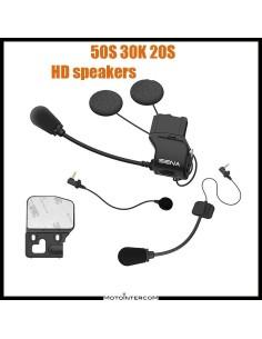 Kit Audio Sena 50S 30K 20S microfono e auricolari HD slim 40mm