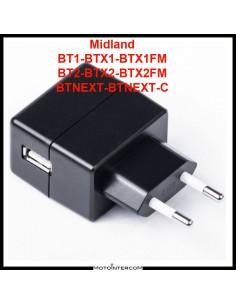 Fuente de alimentación de intercomunicador Midland 5v 400mA para las series BT y BTX
