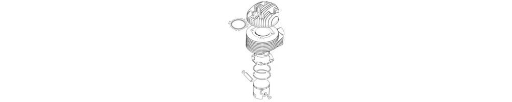 Zylinderkit zylinder und kolben segmente für scooter und maxi