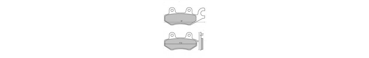 Brake pads and brake shoes linings for scooters and motorcycles of any displacement