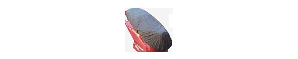 Plastic waterproof seat cover for motorbikes and scooters available for all bikes and scooters