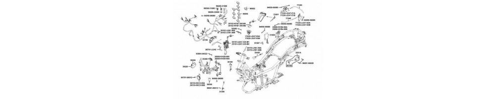 Ricambi e accessori originali e commerciali per Scooter Honda Telaio SH 125 150